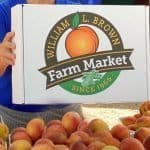 Have a box of 13 fresh Georgia peaches delivered to your door or send as a gift