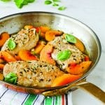 Chef Virginia Willis's peach and basil chicken